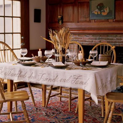Thanksgiving: Tables Clothing, Idea, Tables Sets, Fall, Tablecloths, Holidays, Centerpieces, Thanksgiving Tables, Drop Clothing