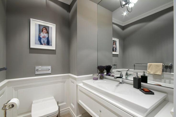 Klasyczne wykończenie toalety - Architektura, wnętrza, technologia, design - HomeSquare