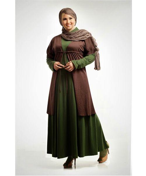Contoh Gambar Model Baju Muslim Paling Cocok untuk Wanita Gemuk