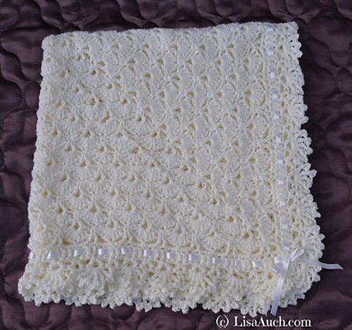 Free Knitting Pattern For A Baby Shawl : [Free Pattern] Very Easy FanTail Baby Blanket With Unique ...