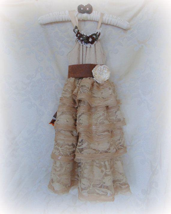 Country Western Flower Girl Dress Classy Camo Flower Girl by HopefullyRomantic