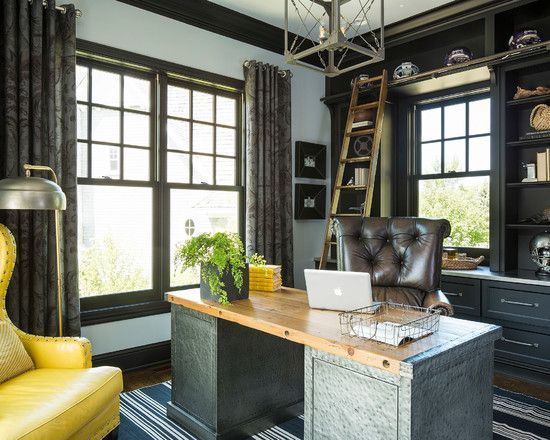 Transitional Masculine Home Office Home Office Design Ideas, Pictures,  Remodel And Decor