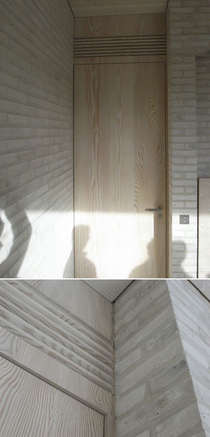 This is a beautiful solution for the problem of overflow ventilation between rooms. Life House by John Pawson.