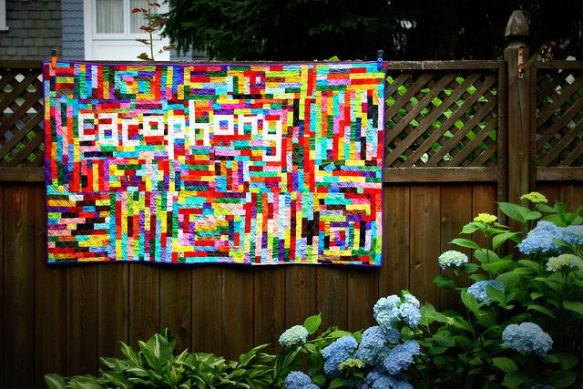 Cacophony quilt from Completely Cauchy blog.: Quilt Inspiration, Quilt Ideas, Quilty Things, Cacophony Quilt, Color Patterns, Quilting Inspiration, Quilts Art Quilts, Photo, Quilty Goodness