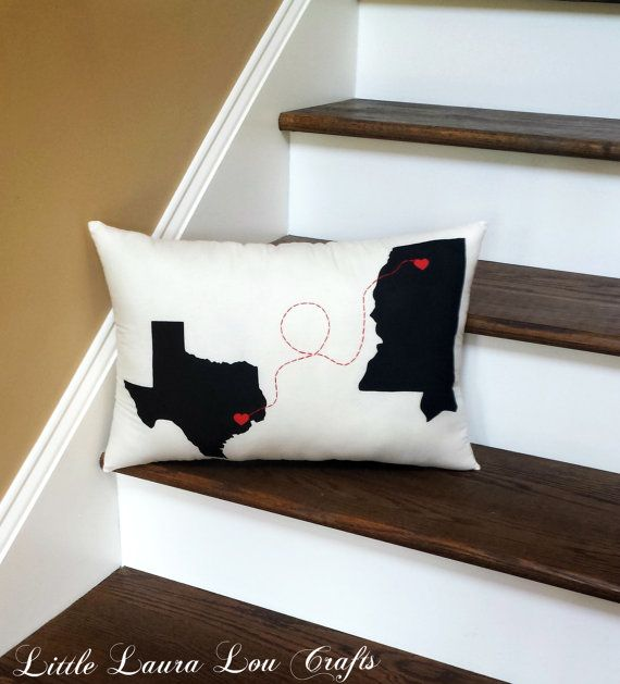 Love Connection Customized State Throw by LittleLauraLouCrafts