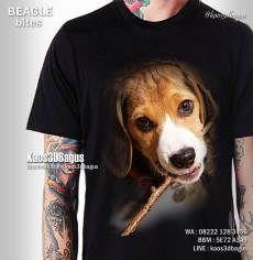 Kaos ANJING BEAGLE - Kaos Dog Lover 3D - Kaos 3D Gambar Anjing