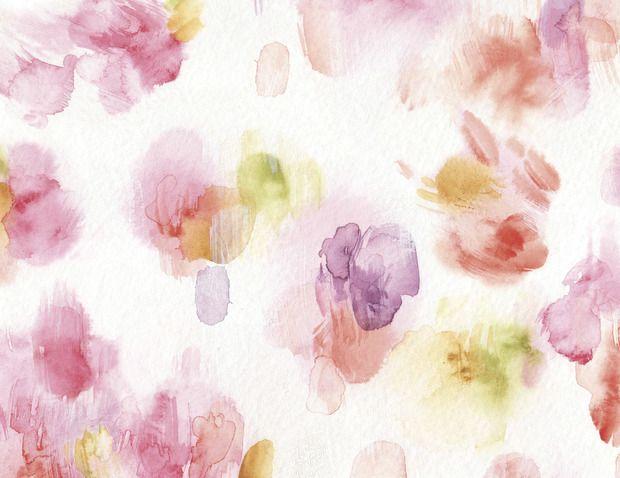 Watercolor Petals -             Wall Mural & Photo Wallpaper -           Photowall