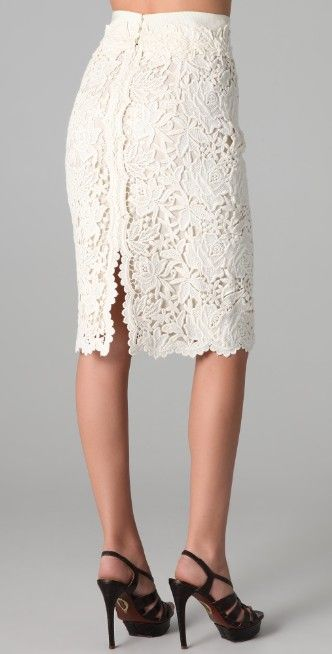 Elie Tahari Bennet Lace Skirt | SHOPBOP