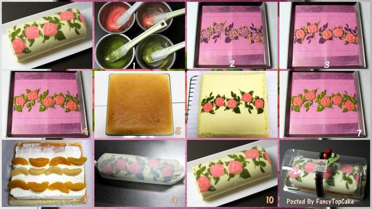 How to make ROSE pattern Roulade…