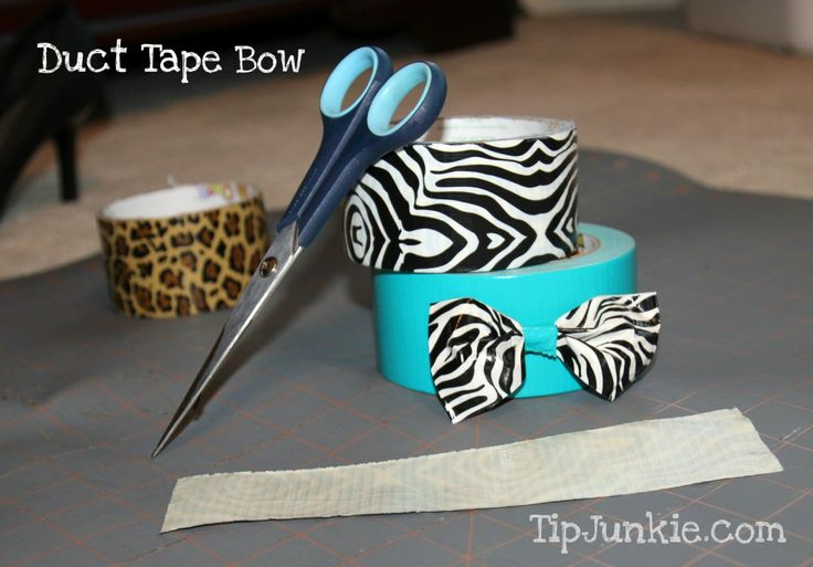 Duct Tape Bow for your hair.  (Great idea for church or camp activity for girls.)