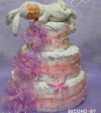 Торт, велосипед, байк из памперсов - подарок новорождённому – SECOND.BY