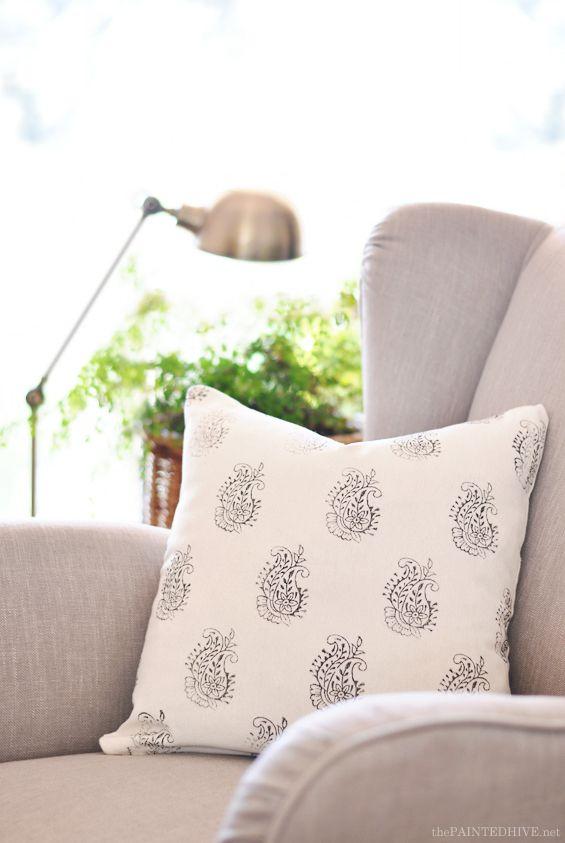 Indian Block Printed Cushion Cover DIY