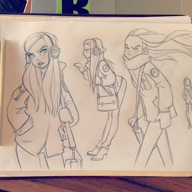 ⛄️❄️☁️ #sketching #girls