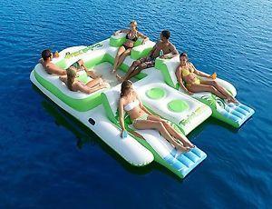 Tropical Tahiti Floating Island Inflatable Pool Float | eBay