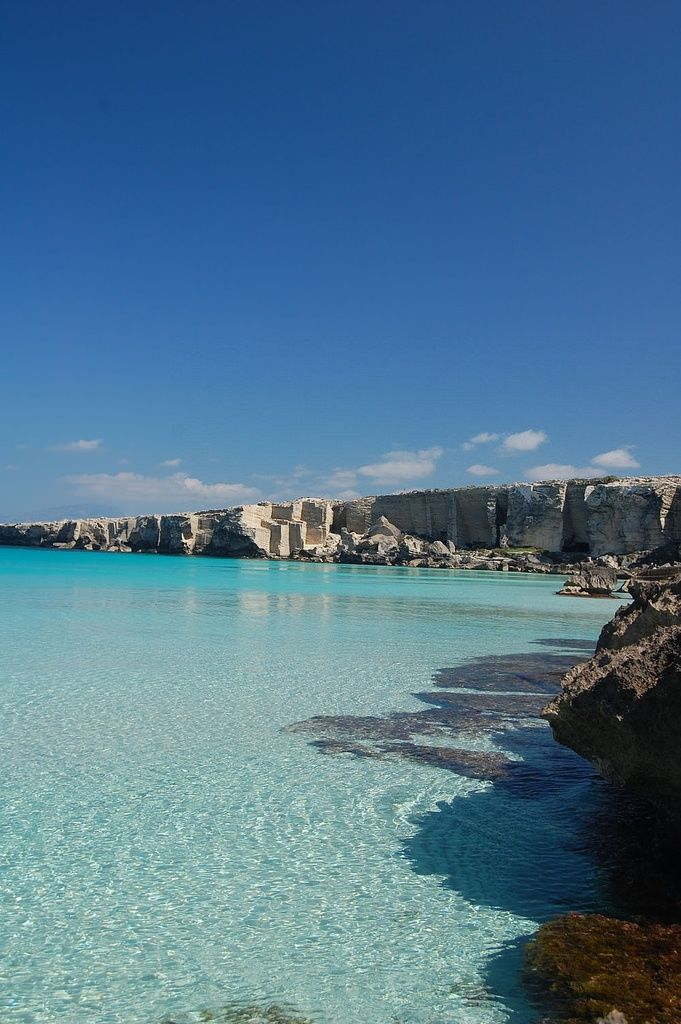Cala Rossa Favignana, Sicily... Largest island near trapani. Roman battle for possession of the island was fought here.
