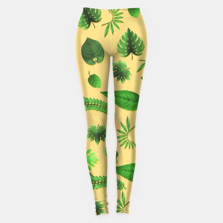 Tropical Leaves Leggings, Live Heroes