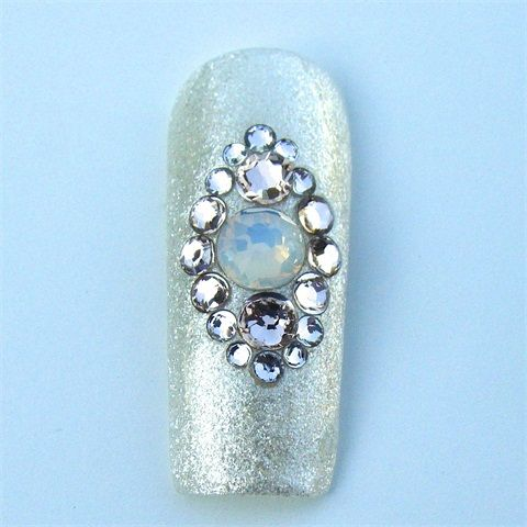 Swarovski Crystal Nail Design Kits Step-by-Step