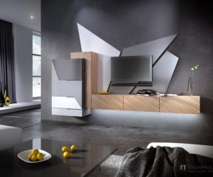 "Poland-based design studio WAMHOUSE recently has created the  new wall unit ""WAFELEK"""