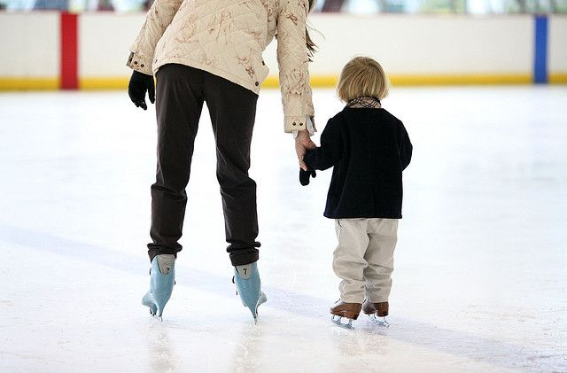 How to Teach Kids to Ice Skate. No skate aid this year. I'm sure he will do great. First family skate this weekend!