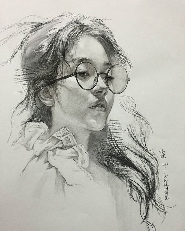 中国女孩 杭州画室杨煌 国美毕业生教师#스케치##素描##sketch##charcoal##drawing##art# #スケッチ##ร่าง##artwork##wip##sketching##artist##pencil #draw #human #artshow #painting #craft #skill #taste #그림을그리자 #미술 #화가#