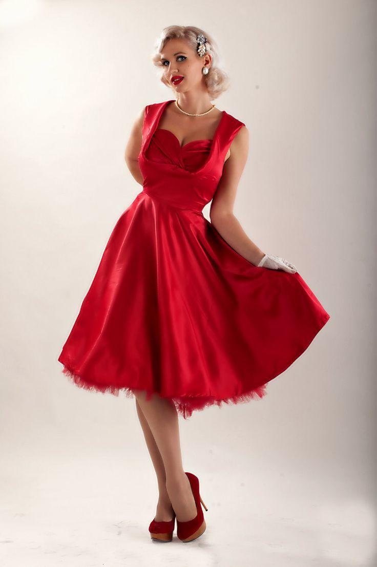 30 best vintage red dress images on pinterest  vintage