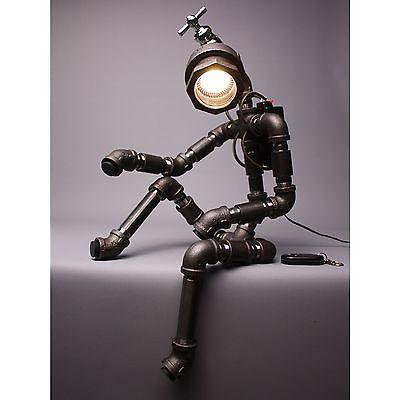 Lámpara De Mesa De Luz Lámpara de mesa de iluminación de decoración del hogar hecho a mano grifo Robot Luz ver.2