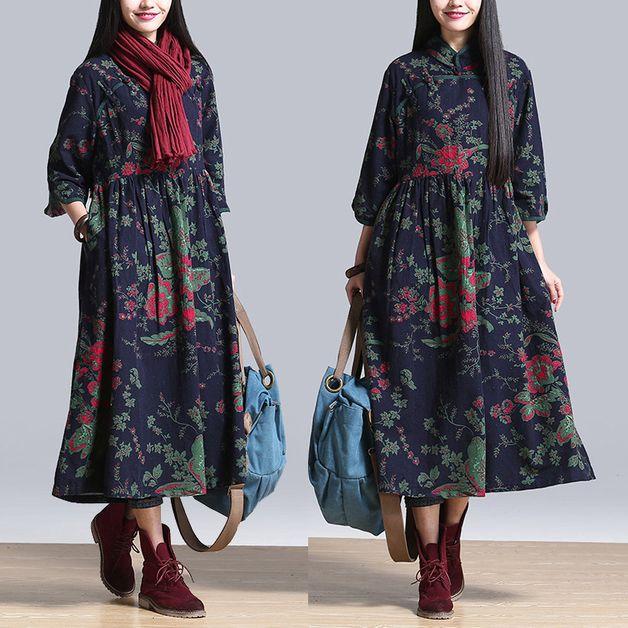 Maxi-jurken - Vrouwen Spring Maxi jurk - Een uniek product van minyaZhou op DaWanda