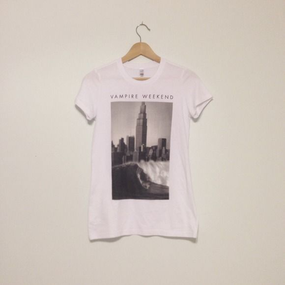 Vampire Weekend Surf City Tee Sold out, brand new Vampire Weekend tour shirt for Modern Vampires of The City – label says small, but best fit for extra small Tops
