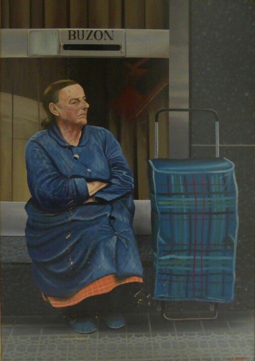 Juliana, año 1985, pintura acrílica 130 x97 cm