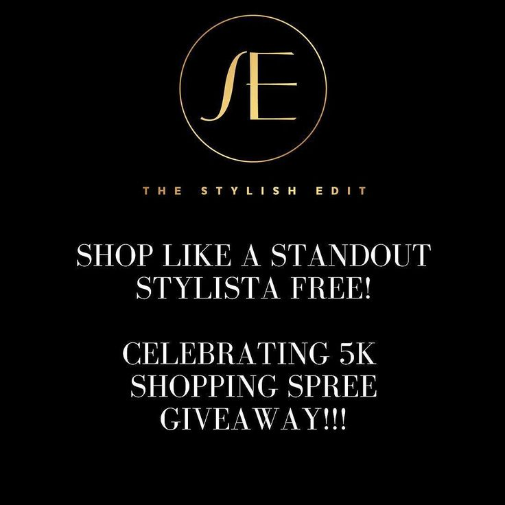 Didn't think you'd be handed a free shopping spree this week Stylista! Well here we go! You could win one this week with our Shop like a Standout Stylista Shopping Spree! We're celebrating YOU and growing into 5000 women and men who follow us appreciate us and break barriers everyday. CONTEST RULES 1. Be sure you're following @thestylishedit 2. Click the link in our bio and enter to win 3. Browse our website and identify the item you want to keep if you win 3. Tag three stylistas on this…