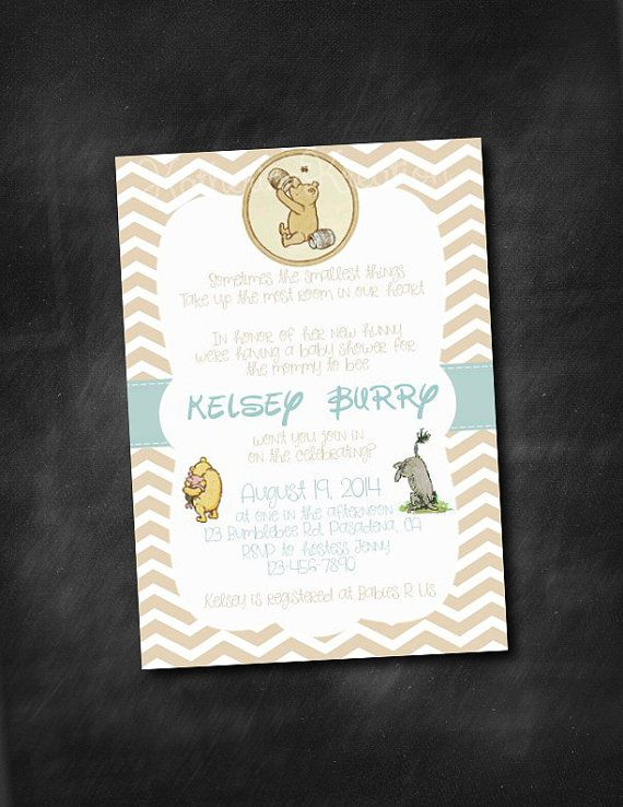 the pooh baby shower invitation on etsy classic pooh shower