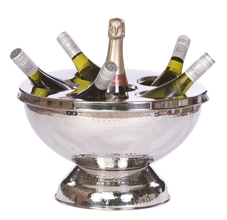 hammered champagne and wine bucket by primrose & plum | notonthehighstreet.com