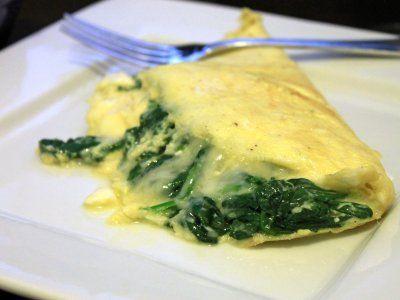 Receta de Omelette de Espinacas