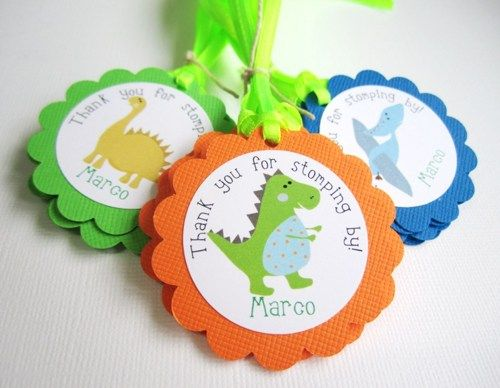 Personalized Dinosaur Favor Tags Thank You for Stomping By  | adorebynat - Paper/Books on ArtFire