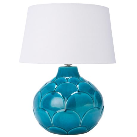 Sole Table Lamp  Teal