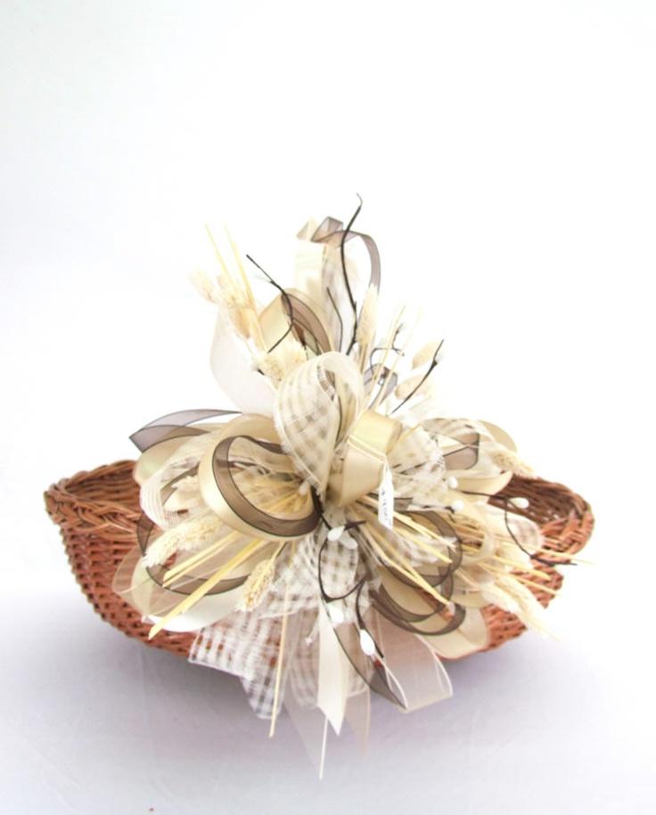 Canasta de ofrendas canastas decoradas boda pinterest - Como hacer centros de mesa para bautizo ...