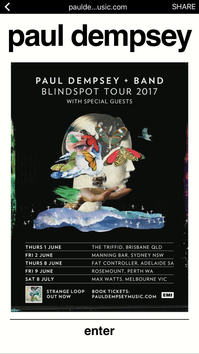 Paul Dempsey Oz Tour July 17