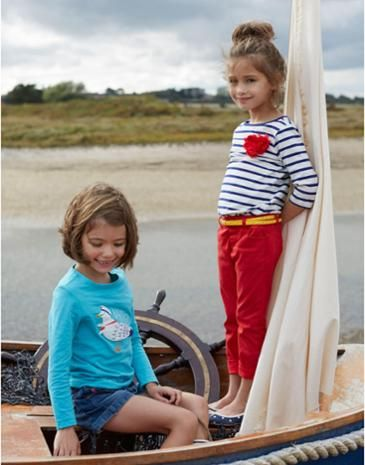 JNR CORA Girls Long Sleeve Jersey Top #joules #stripes