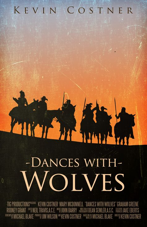Dances with Wolves (1990) ~ Alternative Movie Poster by Benjamin Capazo #amusementphile