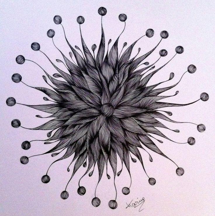 Technique de dessin en forme d'arabesques, griffonnage, gribouillage, ..  Technique de dessin en forme d'arabesques ou autres griffonnages aléatoires. Le  but de Samarkano  étant de partir d'un trait souvent au milieu de ma feuille, et voir ou son imagination (ou bien son humeur) le porte. Cela ne représente très souvent rien de précis, mais juste des formes Dessin réalisé au feutre noir pointe 0.05 sur bristol