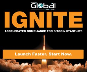 Ignite Accelerated compliance for Bitcoin start-ups.
