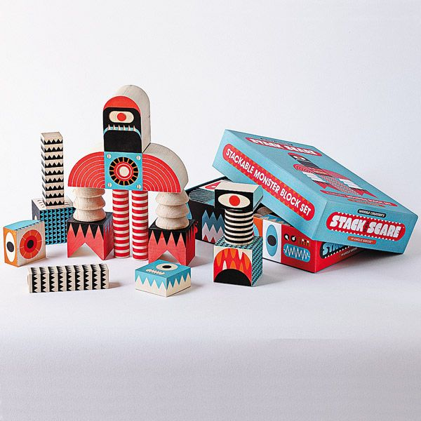 Stack and Scare™ Monster Blocks Set | Smithsonian Museum
