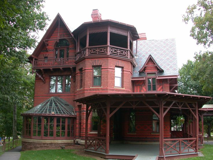 #housesOld House, Victorian House, Favorite Places, Connecticut, Dreams House, Twain House, Architecture, Front Porches, Mark Twain