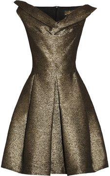 Vivienne Westwood Anglomania Halton draped metallic jacquard dress on shopstyle.com