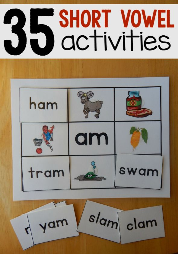 35 Hands-on reading mats for short vowels