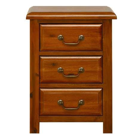Winchester Acacia Dark Wood Bedside Table
