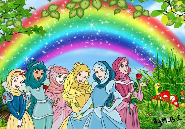 Disney Princesses with Hijab by ~MiSsBeatoChan on deviantART