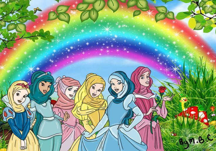 Disney Princesses with Hijab by ~MiSsBeatoChan on deviantART