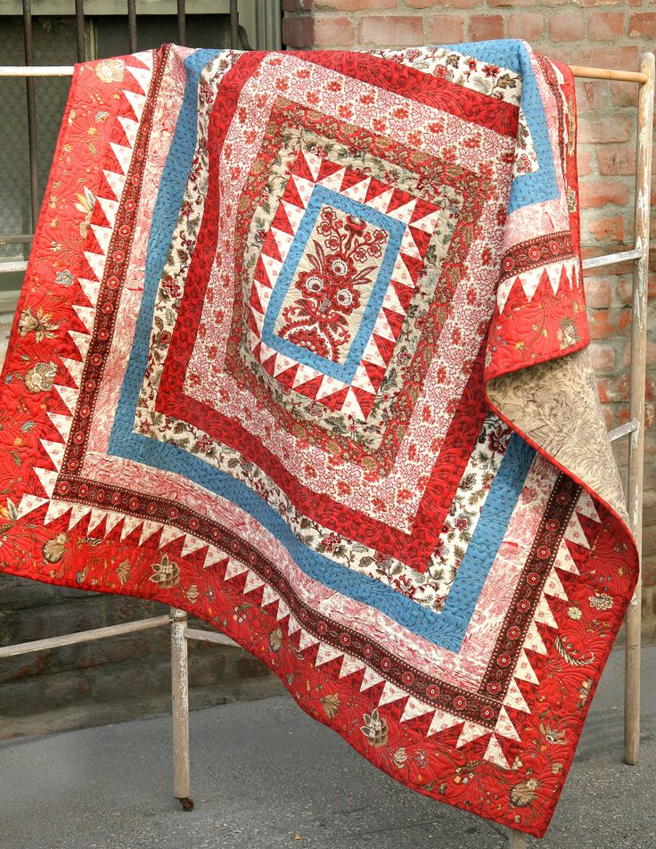 A beautiful classic quilt pattern designed by the French General design team…