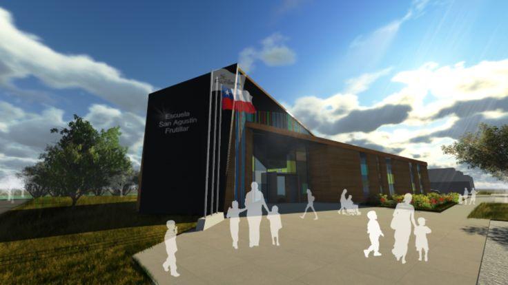 Escuela San Agustín Frutillar. Colaboración de los arquitectos: Jenniffer Santana, Mario Barrientos, José Vera